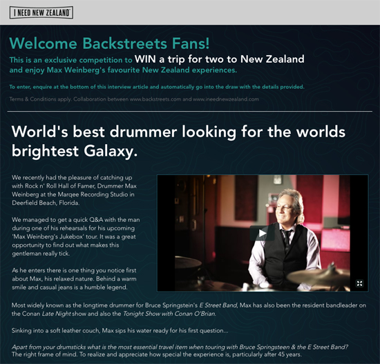 97eefaabfbefc During rehearsals for his current Max Weinberg's Jukebox tour, I Need New  Zealand sat down with Max for a fun Q&A lightning round: over the course of  more ...