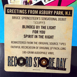 Vinyl lp greetings from asbury park nj remastered rsd 2015 until now this remastered lp has only been available as part of a box set now especially for record store day the remastered vinyl of springsteens m4hsunfo
