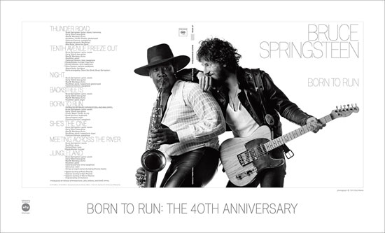Poster: Born to Run - The 40th Anniversary: Backstreet Records